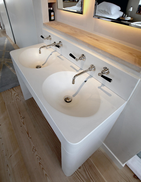 White Concrete / Marble Sink Forma Studios BathroomSinks Marble White