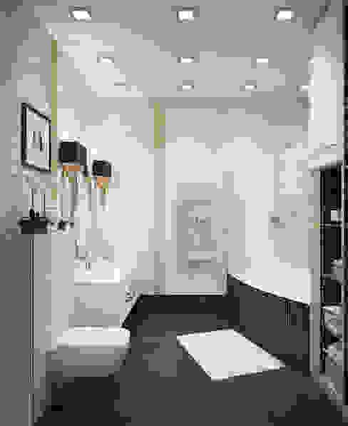 Изысканность стиля - Ванная СТУДИЯ 'ДА' ДАРЬИ АРХИПОВОЙ Classic style bathrooms Ceramic White