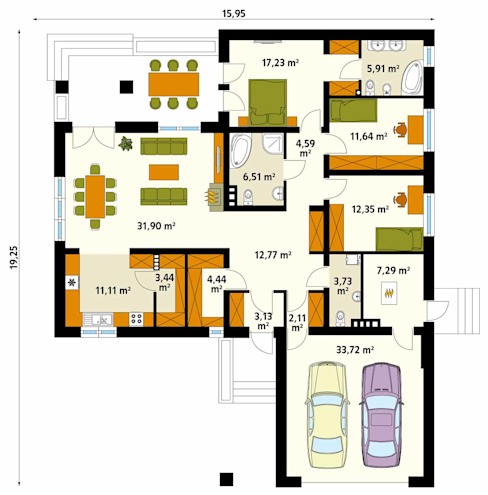 Стены и пол в стиле модерн от Biuro Projektów MTM Styl - domywstylu.pl Модерн