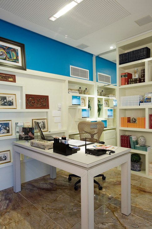 Decoração de Escritório | Salvador-Ba Edifícios comerciais modernos por Maria Julia Faria Arquitetura e Interior Design Moderno