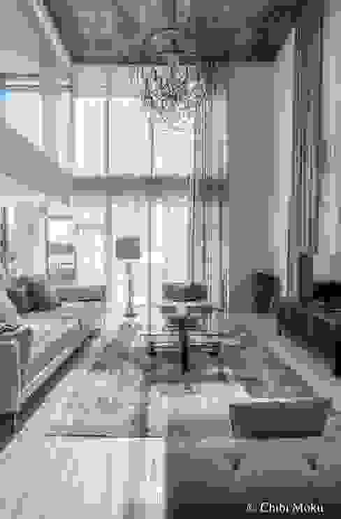Salas / recibidores de estilo  por Chibi Moku, Moderno Concreto