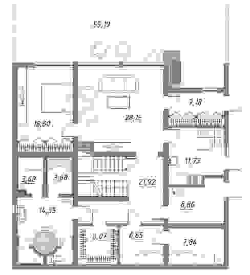 ЗАГОРОДНЫЙ ДОМ НА СКЛОНЕ ВО ВСЕВОЛОЖСКЕ: Дома в . Автор – META-architects архитектурная студия