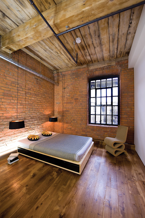 Albert Mill Apartments in Manchester Modern Bedroom by Studio Maurice Shapero Modern