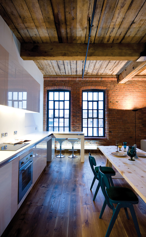 Albert Mill Apartments in Manchester Dapur Modern Oleh Studio Maurice Shapero Modern