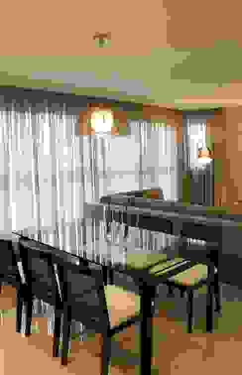 Sala de Jantar Apartamento FV Ocapi Arquitetura Salas de jantar modernas Vidro Cinza