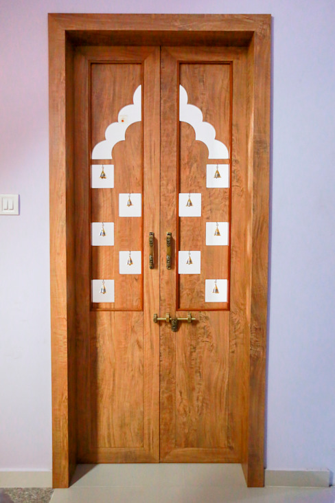 Pooja Door Modern windows & doors by ZEAL Arch Designs Modern