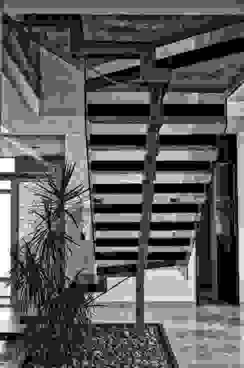 ESTRUCTURA ESCALERA Pasillos, vestíbulos y escaleras de estilo minimalista de homify Minimalista Vidrio