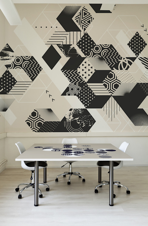 New Black Modern Study Room and Home Office by Pixers Modern