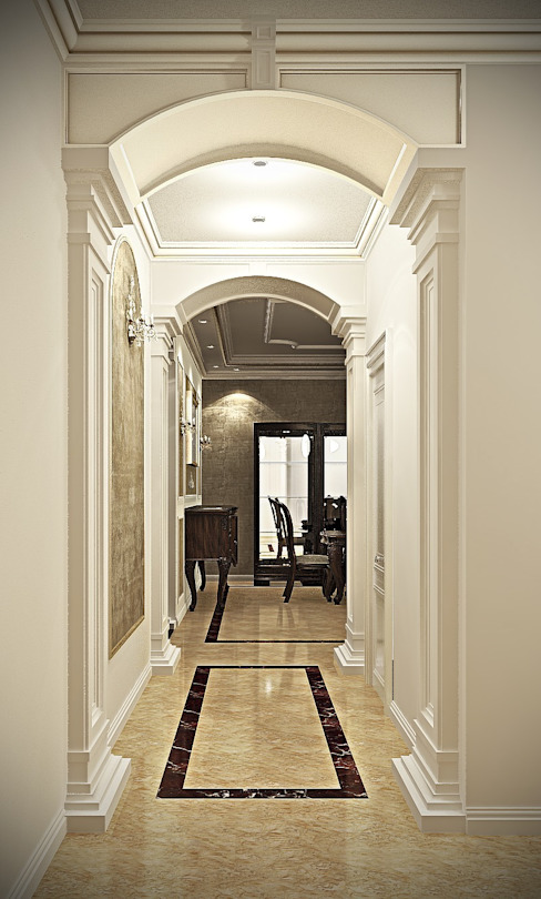 Classic reception:  غرفة المعيشة تنفيذ Boly Designs,