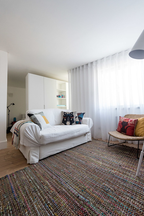 Sala de Estar_Remodelação Apartamento_Ajuda | Lisboa PT Salas de estar minimalistas por OW ARQUITECTOS lda | simplicity works Minimalista