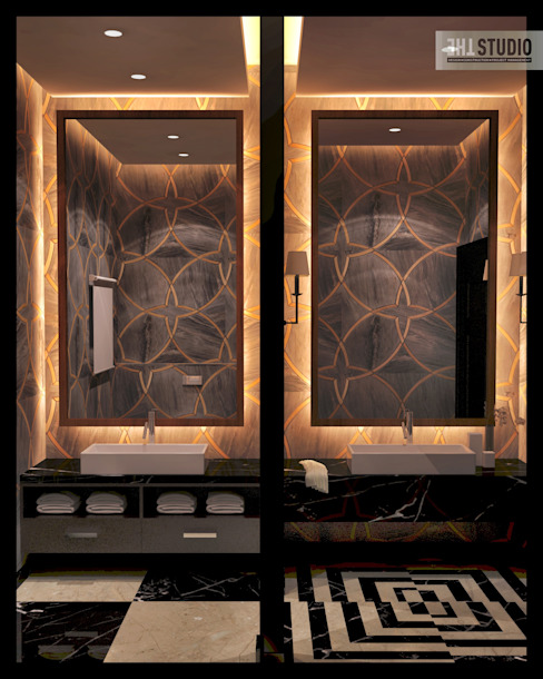 Lake View-Cairo homify Modern Bathroom