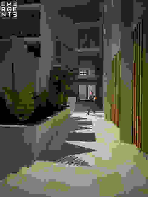 CIRCULACIONES Hoteles de estilo minimalista de homify Minimalista Piedra