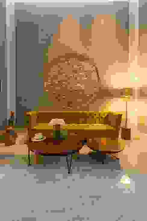 Taller Estilo Arquitectura Livings modernos: Ideas, imágenes y decoración Piedra Amarillo