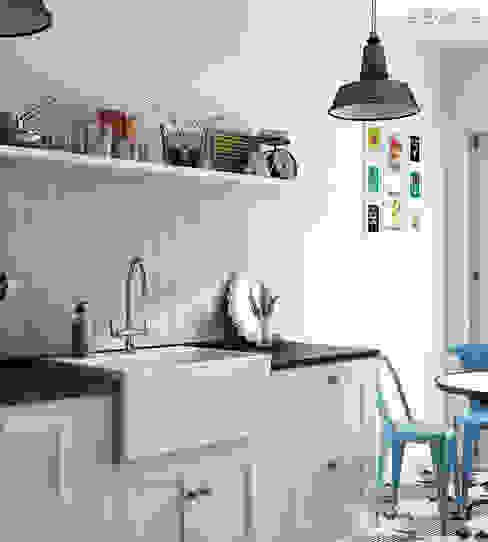 Evolution Sky Blue 7,5x15 Cocinas modernas de Equipe Ceramicas Moderno
