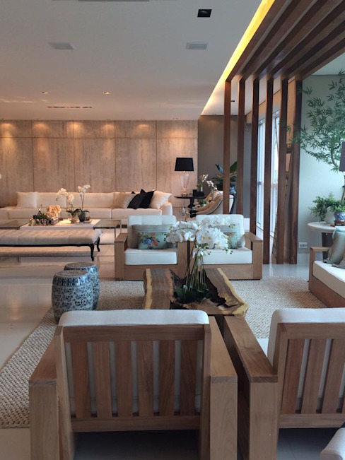 Modern living room by Juliana Meda Arquitetura Modern لکڑی Wood effect