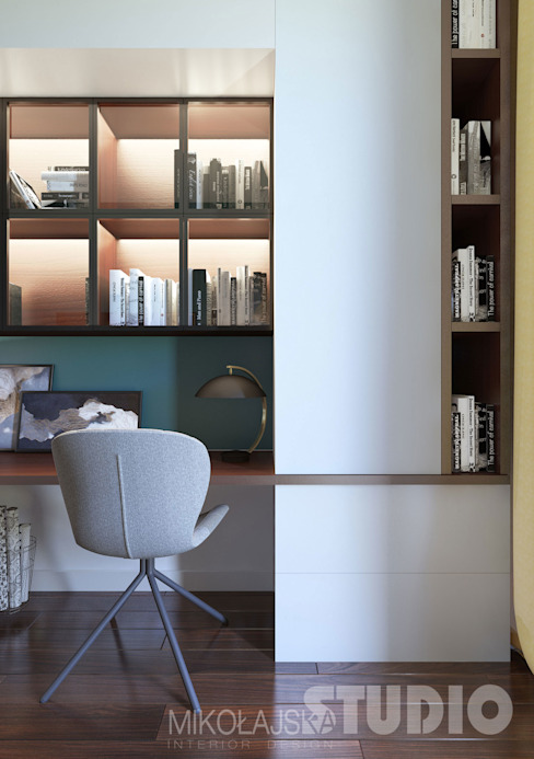 Eclectic style study/office by MIKOŁAJSKAstudio Eclectic