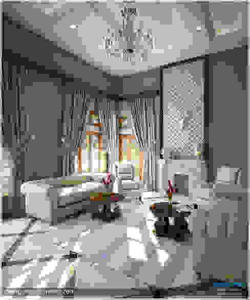 Victorian + Modern Contemporary:  Living room by Premdas Krishna