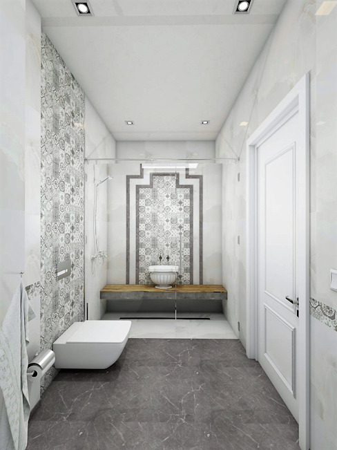 Murat Aksel Architecture BathroomDecoration Granite White
