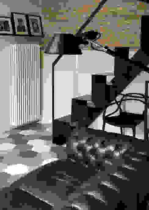 Appartamento B DEFPOINT STUDIO architettura & interni Soggiorno in stile industriale
