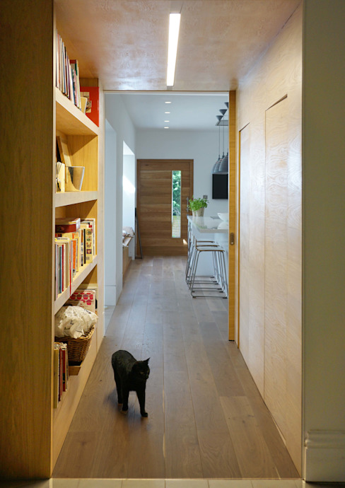 Project 349 Modern corridor, hallway & stairs by Project 3 Architects Modern Wood Wood effect
