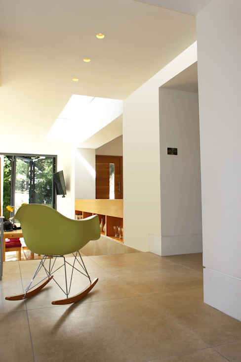 Project 349 Modern corridor, hallway & stairs by Project 3 Architects Modern Limestone