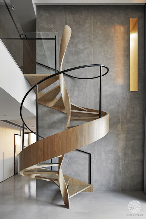 源自原本 Essence 源原設計 YYDG INTERIOR DESIGN Modern Corridor, Hallway and Staircase