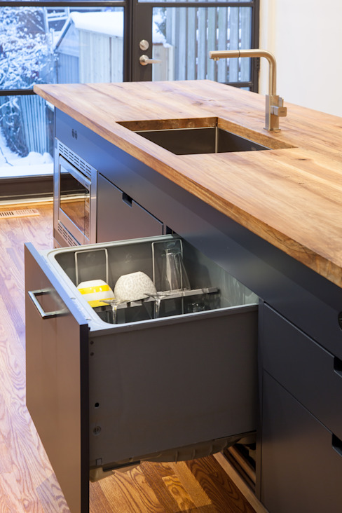 Island with Dishwasher Drawer Scandinavian style kitchen by STUDIO Z Scandinavian