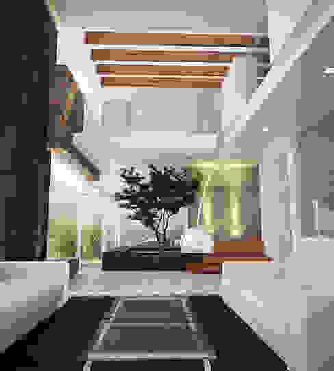 Ruang Keluarga oleh 9.15 arquitectos , Minimalis