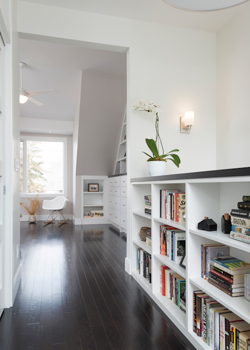 Hallway with Custom Bookcase Modern style bedroom by STUDIO Z Modern