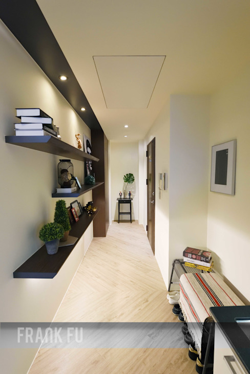 Modern Corridor, Hallway and Staircase by 中孚 設計 / FRANKFU INERIOR DESIGN Modern