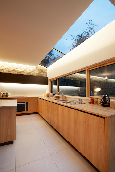Private Residence - Scoble Place, London Dapur Modern Oleh Designcubed Modern