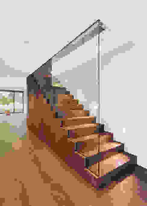 meier architekten zürich Modern Corridor, Hallway and Staircase Wood Brown