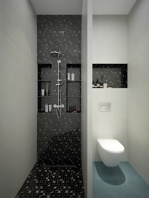 Bathroom by design studio by Mariya Rubleva, Modern