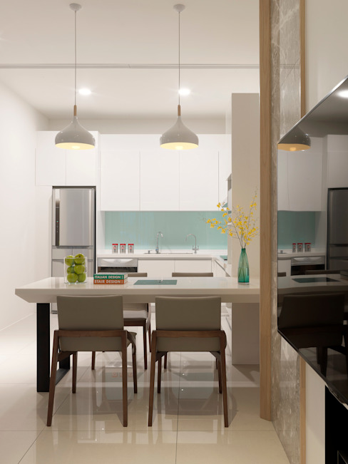 Moderne eetkamers van 夏沐森山設計整合 Modern
