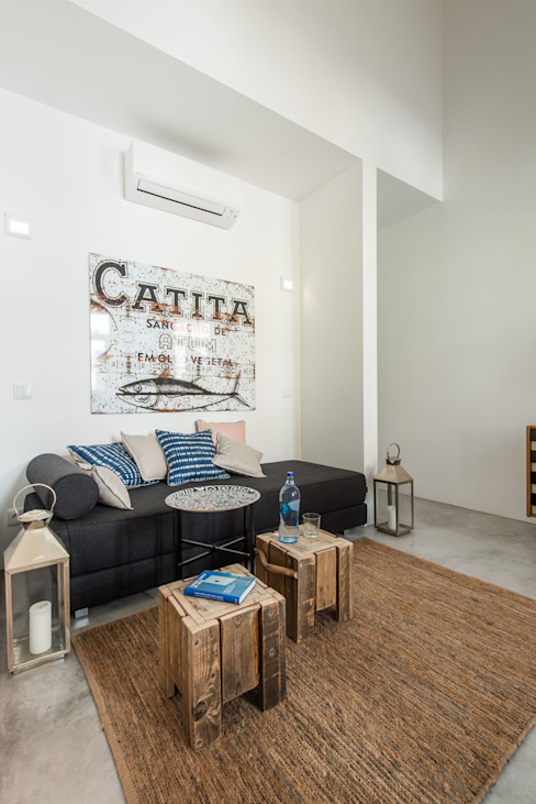 Bedroom/Relaxing space studioarte Sala multimediale minimalista