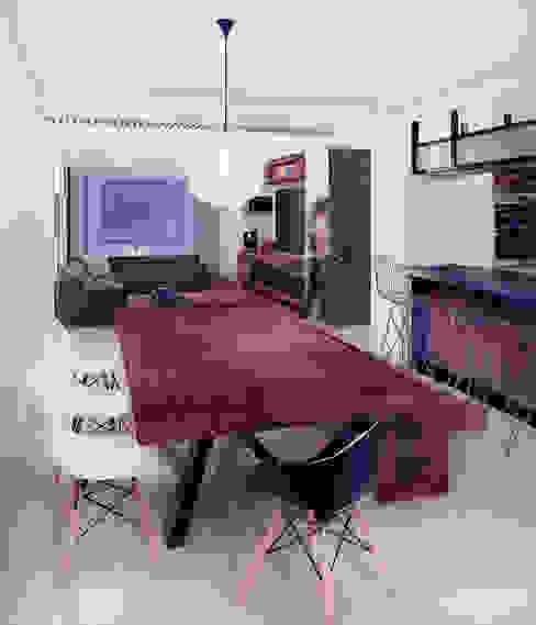 Loft Mil3 [León, Gto]: Comedores de estilo  por 3C Arquitectos S.A. de C.V., Moderno Madera Acabado en madera