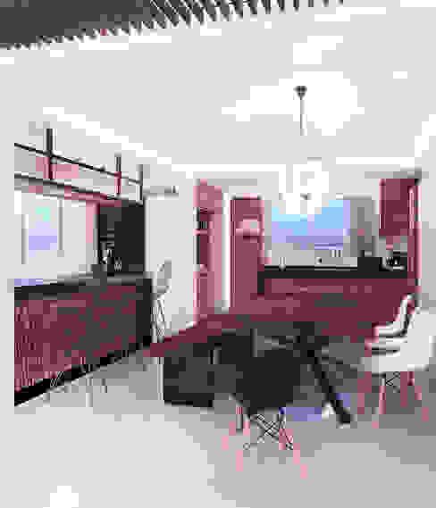 Bodegas de vino de estilo moderno de 3C Arquitectos S.A. de C.V. Moderno Madera Acabado en madera
