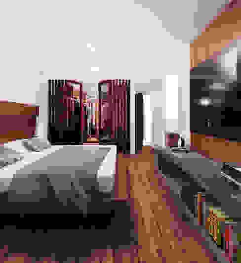 Loft Mil3 [León, Gto]: Recámaras de estilo  por 3C Arquitectos S.A. de C.V., Moderno Madera Acabado en madera
