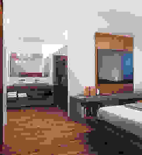 Loft Mil3 [León, Gto]: Baños de estilo  por 3C Arquitectos S.A. de C.V., Moderno Madera Acabado en madera