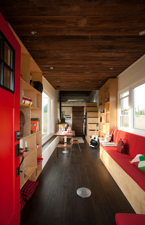 Greenmoxie Tiny House:  Living room by Greenmoxie Magazine