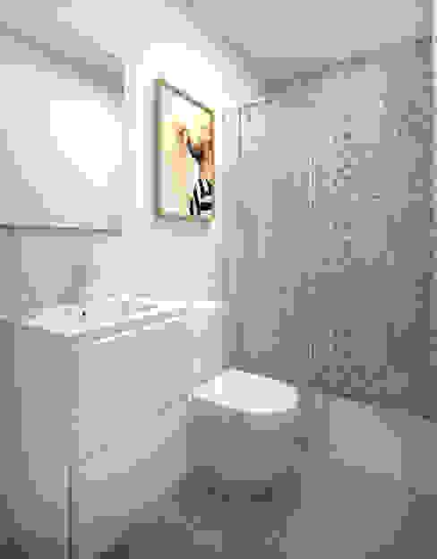 Cuarto de baño suite Baños de estilo moderno de Grupo Inventia Moderno Azulejos