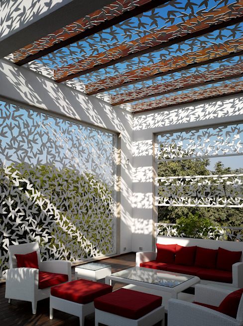Traveler's House Modern balcony, veranda & terrace by Morphogenesis Modern Metal