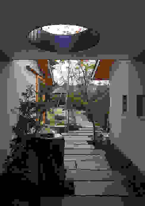 Jardines de estilo asiático de 澤村昌彦建築設計事務所 Asiático