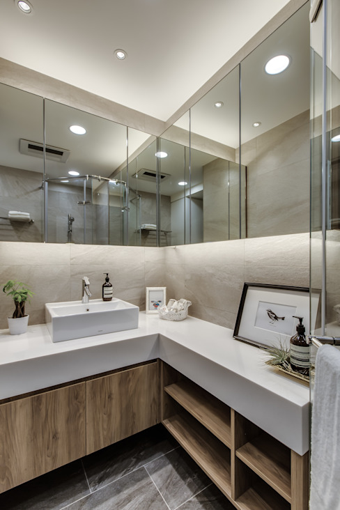 حمام تنفيذ 爾聲空間設計有限公司, حداثي