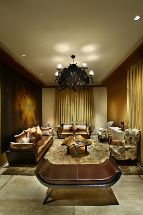 Living Room Eclectic style living room by groupDCA Eclectic