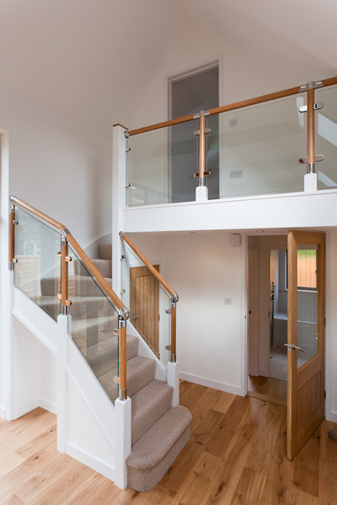 New-build J.J.Mullane Ltd Classic style corridor, hallway and stairs Wood