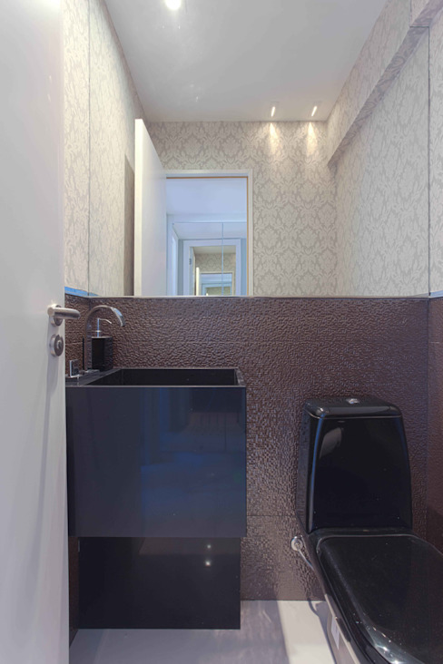 Banheiros e Lavabos Banheiros modernos por Ju Nejaim Arquitetura Moderno Granito