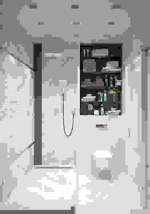 """Душевая комната """"for dad"""" Modern style bathrooms by СТУДИЯ 'ДА' ДАРЬИ АРХИПОВОЙ Modern"""