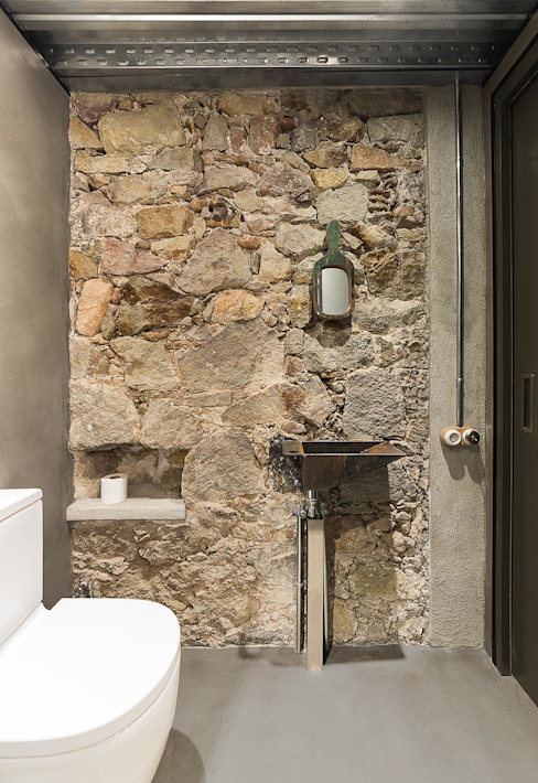 Salle de bains de style  par N.A. Construcción, Rustique