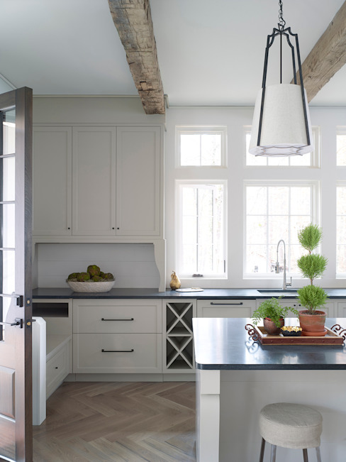 Pool House Kitchen Country style kitchen by Christopher Architecture & Interiors Country